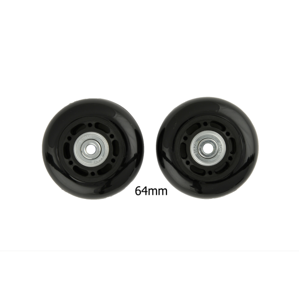 64mm Luggage Wheels Black