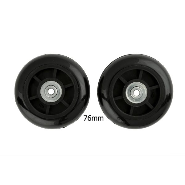 76mm Luggage Wheels Black